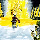 Santa's Workshop Fire by MarkHackett