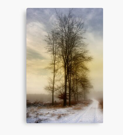 Christmas Eve in the Snow - 3 Canvas Print