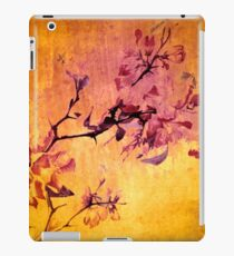 cherry blossom on golden tones iPad Case/Skin