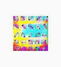 Safety Pin Rainbows  Art Board