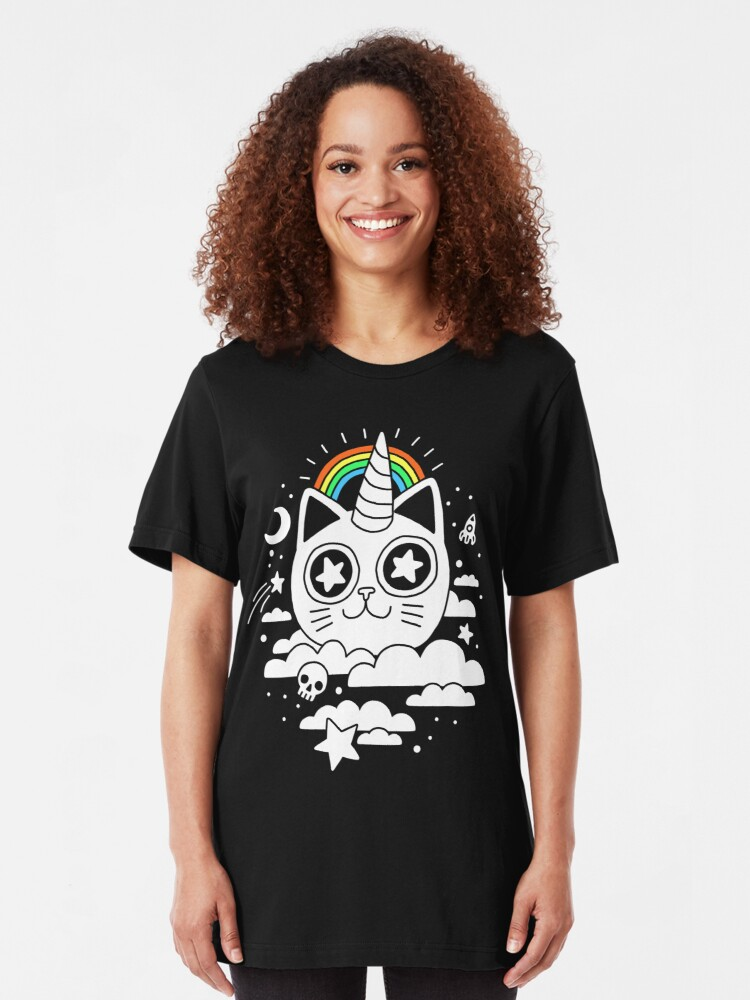 Alternate view of This Is Your Cat On Catnip Slim Fit T-Shirt