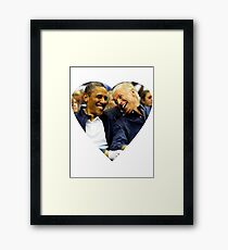 joe biden and barack Framed Print