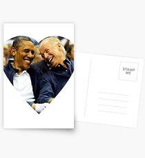 joe biden and barack Postcards