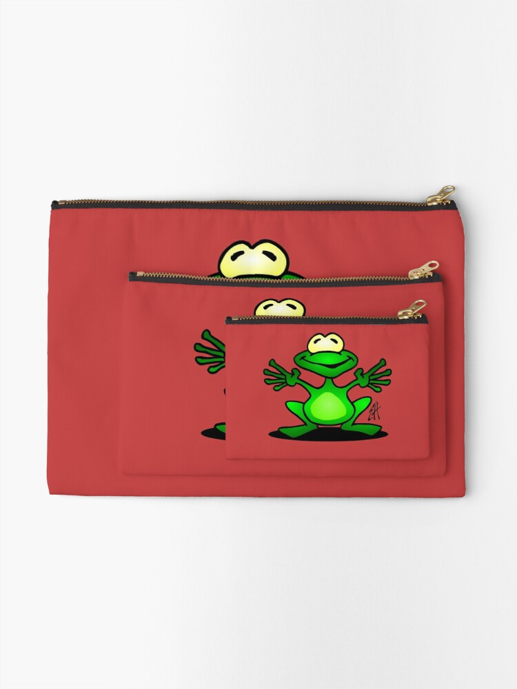 Alternate view of Frog Zipper Pouch