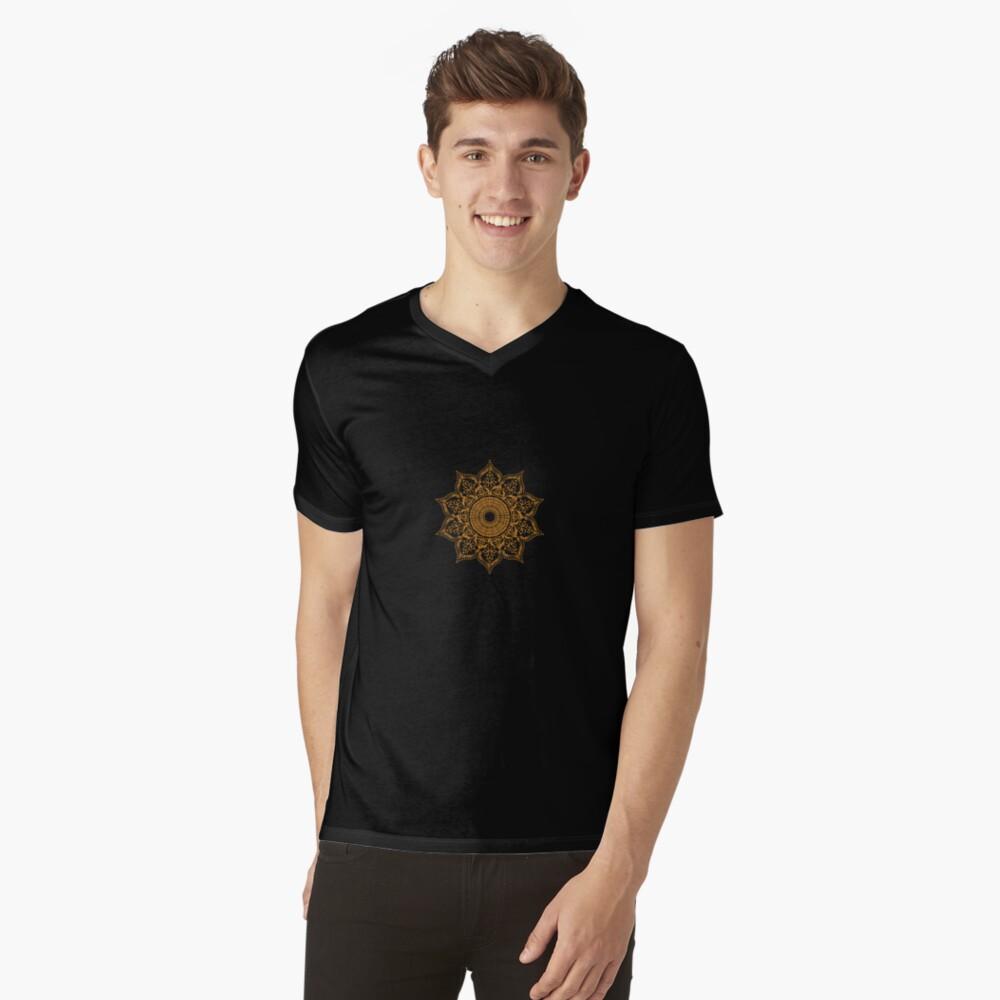 Gassho Mens V-Neck T-Shirt Front