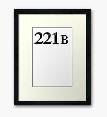 221b Baker Street Framed Print