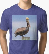 Handsome Brown Pelican  Tri-blend T-Shirt