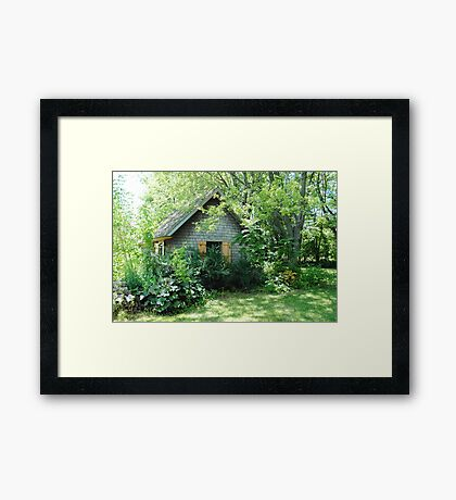 Country Garden Shed Framed Print