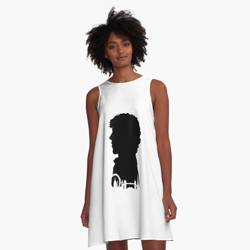 Sherlock Portrait A-Line Dress Front