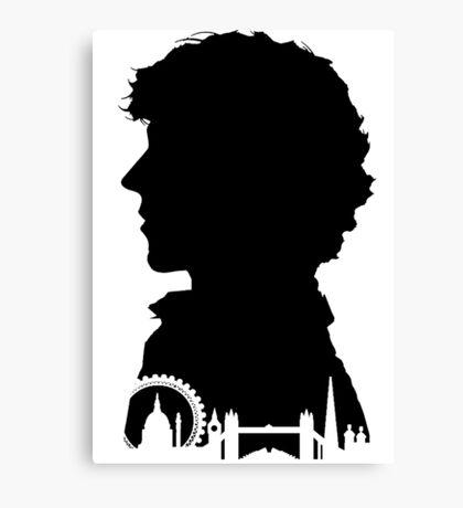 Sherlock Portrait Canvas Print