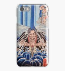 Meditating under a waterfall iPhone Case/Skin