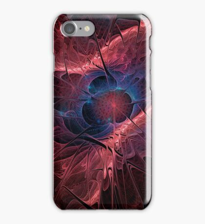Red Fractal Abstract iPhone Case/Skin