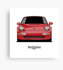 Porsche 911 Carrera RS (993) (red) Canvas Print