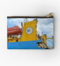 The MailBoat docked at Potter's Cay in Nassau, The Bahamas Studio Pouch