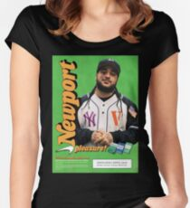 A$AP Yams Newport Cigarette Ad Women's Fitted Scoop T-Shirt