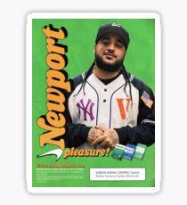 A$AP Yams Newport Cigarette Ad Sticker