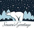 Polar Bear in Snow by ACImaging