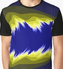 Yellow and blue fractals pattern, simple design Graphic T-Shirt