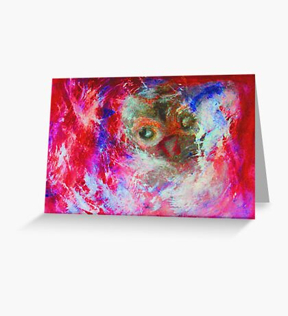 Abstract Owl Greeting Card