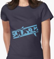 Serious shark fanatic Womens Fitted T-Shirt