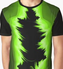 Green and black fractals pattern, simple design Graphic T-Shirt