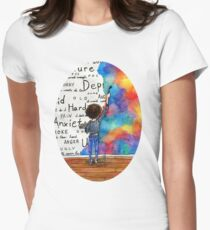 Always Keep Fighting Watercolor Painting (2015) REVAMP Women's Fitted T-Shirt