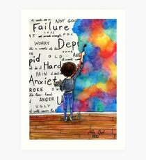 Always Keep Fighting Watercolor Painting (2015) REVAMP Art Print