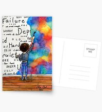 Always Keep Fighting Watercolor Painting (2015) REVAMP Postcards