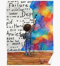 Always Keep Fighting Watercolor Painting (2015) REVAMP Poster