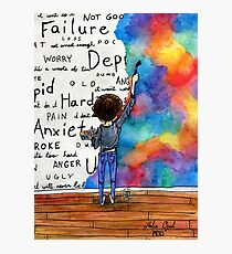 Always Keep Fighting Watercolor Painting (2015) REVAMP Photographic Print