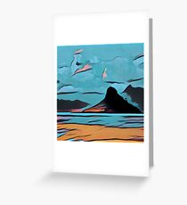 Abstract landscape,digital art,contemporary art,colorful Greeting Card