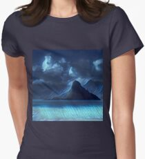 Abstract landscape,digital art,contemporary art,colorful Womens Fitted T-Shirt