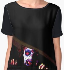 EVIL DEAD - CELLAR 80's Women's Chiffon Top