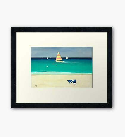 """Coastal Calm""... prints and products Framed Print"