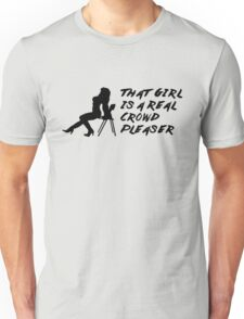 That Girl is a Real Crowd Pleaser - Black Beatles (Mannequin Challenge) Homage Unisex T-Shirt