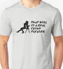 That Girl is a Real Crowd Pleaser - Black Beatles (Mannequin Challenge) Homage T-Shirt