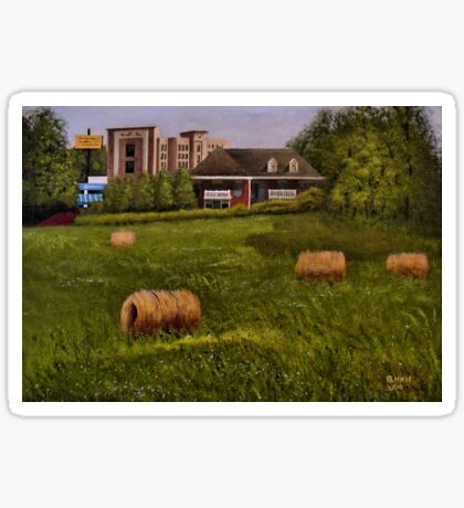 A LITTLE BIT OF COUNTRY, Acrylic Painting, for prints and products Sticker