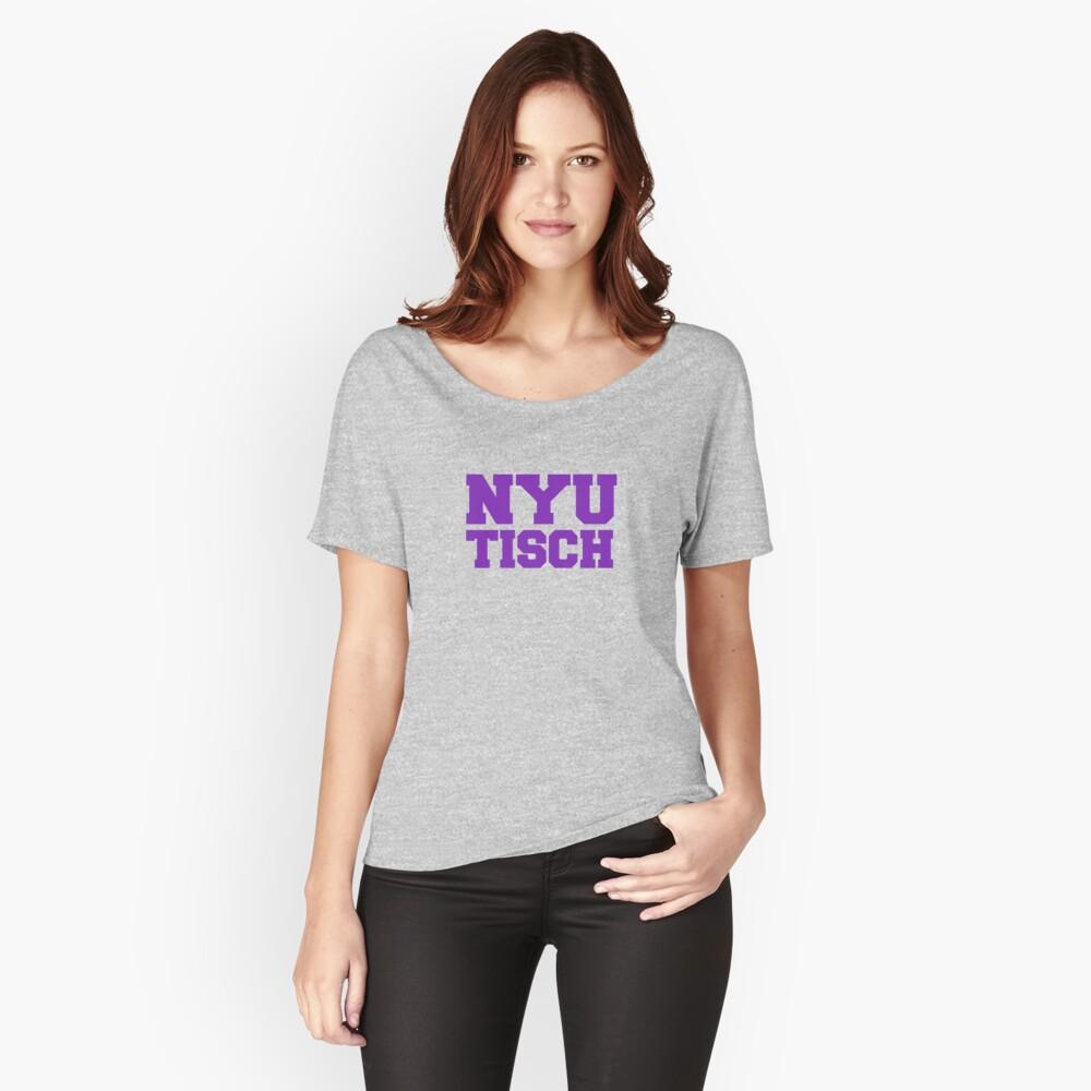 Camiseta ancha para mujerNYU Tisch Delante