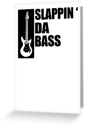 4281b2f25 Bass Guitar Funny Music T-Shirt Slappin Da Bass T-Shirt Gifts for Dad  Screen Printed T-Shirt Tee Shirt T Shirt Mens Ladies Womens Youth Kid