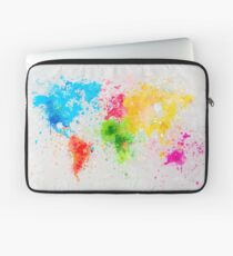 world map painting Laptoptasche