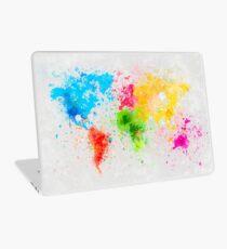 world map painting Laptop Skin