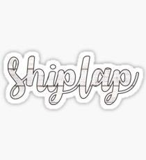 Shiplap Sticker