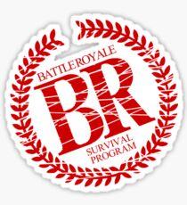 Battle Royale Survival Program Japanese Horror Movie T shirt Sticker