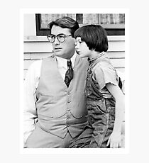 Atticus Finch and Scout Photographic Print
