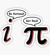 Be Rational Get Real T-Shirt Funny Math Tee Pi Nerd Nerdy Geek Shirt Hilarious Sticker