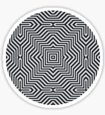 Minimal Geometrical Optical Illusion Style Pattern in Black & White  Sticker