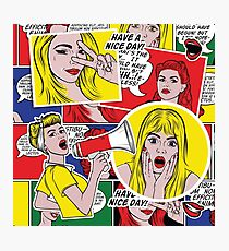 Pop art background Photographic Print
