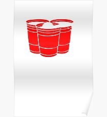 Beer Pong Get Your Balls Wet T-Shirt Funny Drinking Game TEE College Humor Cup Poster