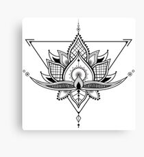Tribal Abstract Flower Design Canvas Print