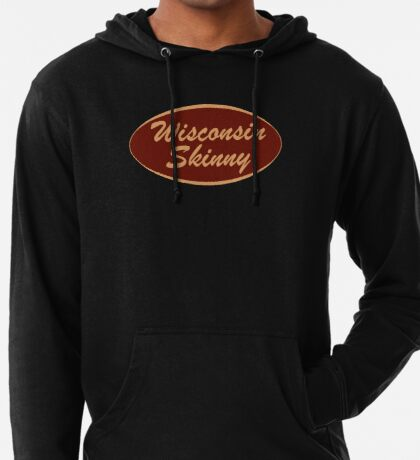 The Original Wisconsin Skinny Logo Lightweight Hoodie